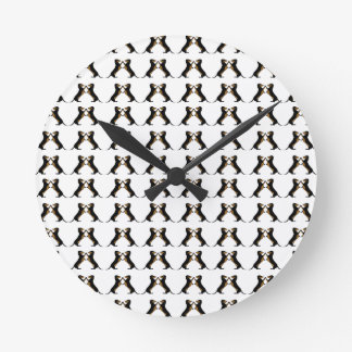 Black and Tan Dachshund Hi Five Round Clock