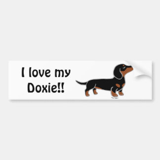 Black and Tan Dachshund Posing Bumper Sticker
