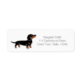 Black and Tan Dachshund Posing Label