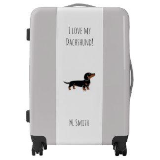Black and Tan Dachshund Posing Luggage