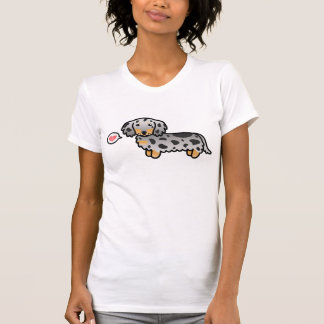 Black And Tan Dapple Long Coat Dachshund Love T Shirts