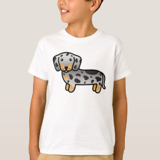 Black And Tan Dapple Smooth Coat Dachshund T-Shirt