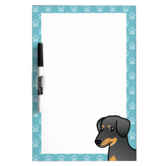 Black And Tan Doberman / German Pinscher Dog Dry Erase Board