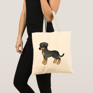 Black And Tan Doberman / German Pinscher Dog Tote Bag