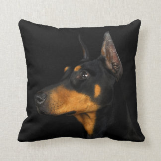 Black and tan Doberman Pinscher pillow. Throw Pillow