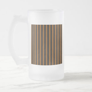 Black and Tan Frosted Glass Beer Mug