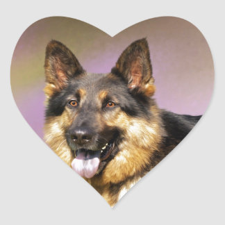 Black and Tan GSD Heart Sticker