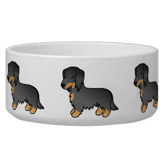 Black And Tan Long Coat Dachshund Dog Bowl