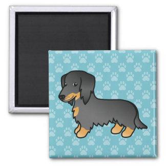 Black And Tan Long Coat Dachshund Dog Magnet