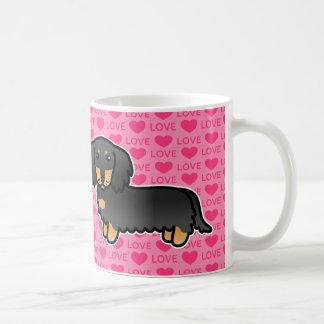 Black And Tan Long Coat Dachshund  Love Mug