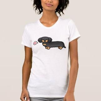 Black And Tan Long Coat Dachshund Love Tshirt