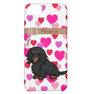 Black and Tan Long Haired Dachshund 2 iPhone 5C Covers