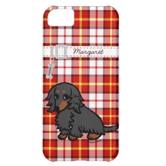 Black and Tan Long Haired Dachshund 2 Case For iPhone 5C
