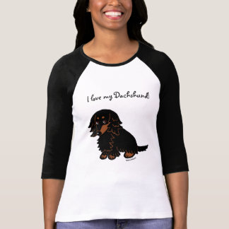 Black and Tan Long Haired Dachshund 3 Tees
