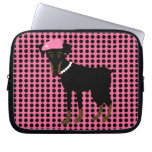 Black and Tan Min Pin Laptop Sleeve
