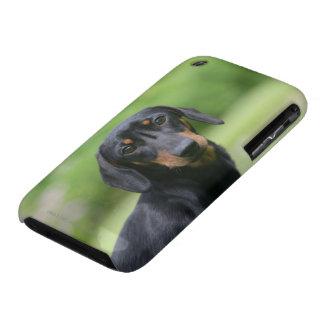 Black and Tan Miniture Dachshund 1 Case-Mate iPhone 3 Case