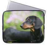 Black and Tan Miniture Dachshund 2 Computer Sleeve
