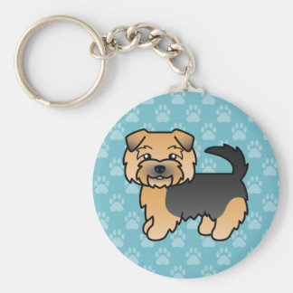 Black And Tan Norfolk Terrier Key Chains