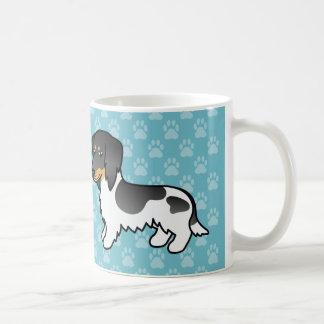 Black And Tan Piebald Long Coat Dachshund Dog Coffee Mug