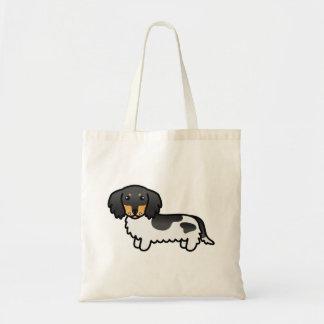 Black And Tan Piebald Long Coat Dachshund Dog Tote Bag