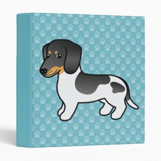 Black And Tan Piebald Smooth Coat Dachshund Dog Binder