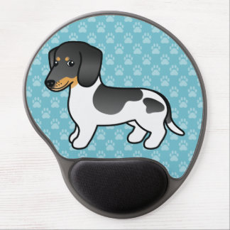 Black And Tan Piebald Smooth Coat Dachshund Dog Gel Mouse Pad