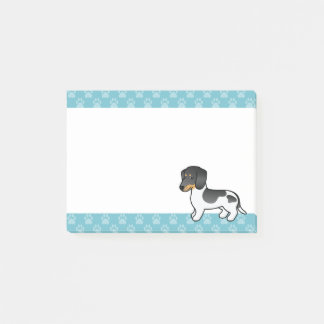 Black And Tan Piebald Smooth Coat Dachshund Dog Post-it Notes