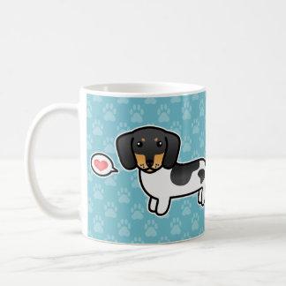 Black And Tan Piebald Smooth Coat Dachshund Love Coffee Mug