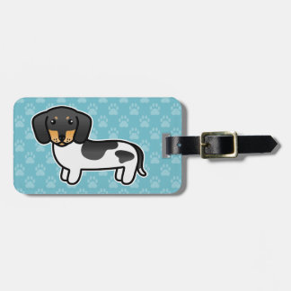 Black And Tan Piebald Smooth Coat Dachshund Luggage Tag