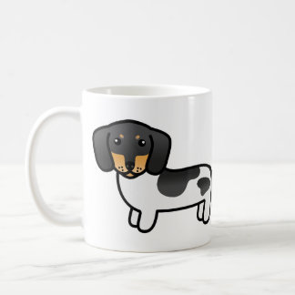 Black And Tan Piebald Smooth Coat Dachshund Coffee Mug