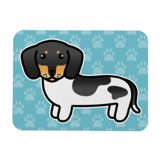 Black And Tan Piebald Smooth Coat Dachshund Rectangular Photo Magnet