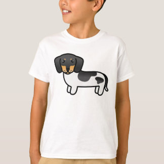 Black And Tan Piebald Smooth Coat Dachshund T-Shirt