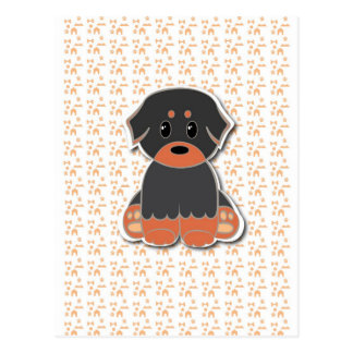 Black and tan puppy postcard