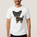Black And Tan Smooth Coat Chihuahua Cartoon Dog T-shirt