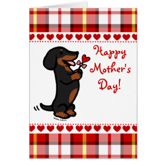 Black and Tan Smooth Haired Dachshund Card