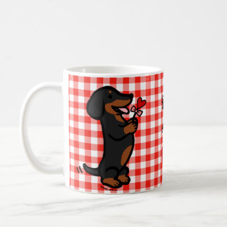 Black and Tan Smooth Haired Dachshund Mugs
