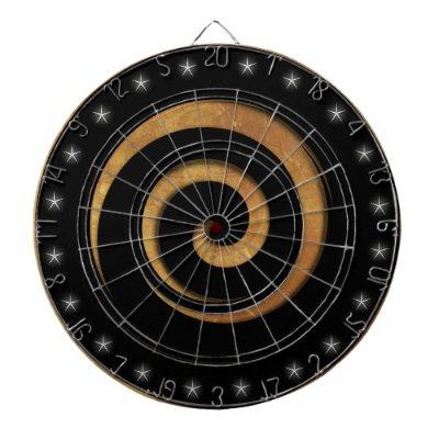 Black and Tan Spiral Regulation Dart Board