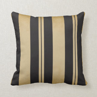 Black and Tan Stripe Throw Pillow