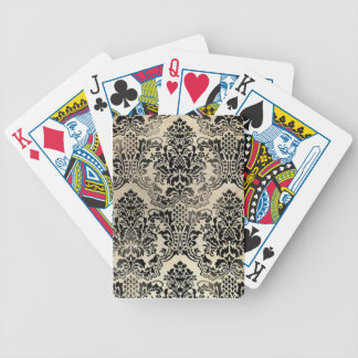 Black and tan textured damask. bicycle playing cards