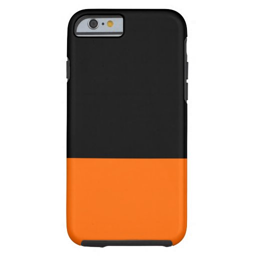 Black and Tangerine iPhone 6 case