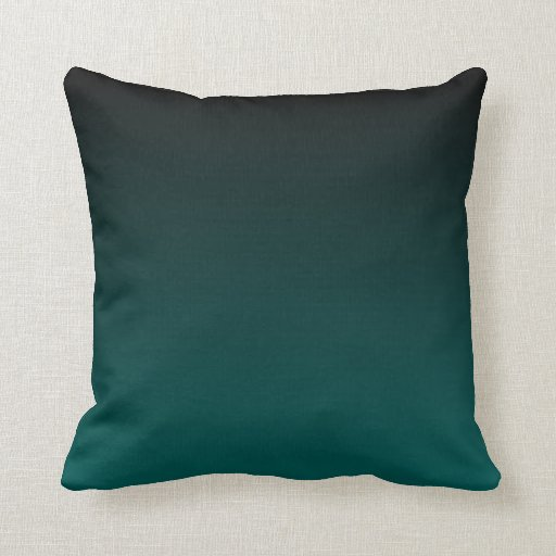 Black and Teal Color Fade Throw Pillow Zazzle