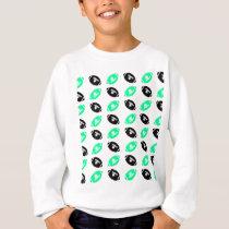 Black and Teal Football Pattern Sweatshirt
