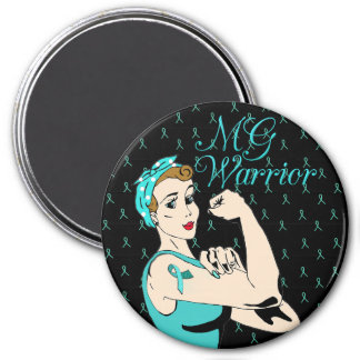 Black and Teal MG Warrior  Warrior Magnet