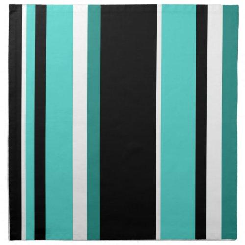 Black and Teal Stripes Napkin