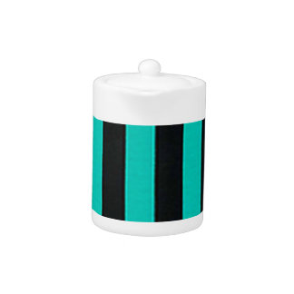 Black and Teal Stripes