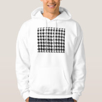 Black and Transparent Houndstooth Hoodie