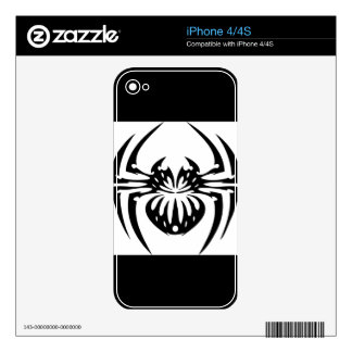 Black and Tribal Spider Decal For iPhone 4
