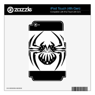 Black and Tribal Spider iPod Touch 4G Skin
