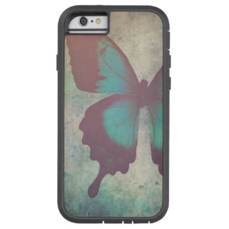 Black and Turquoise Abstract Butterfly Tough Xtreme iPhone 6 Case