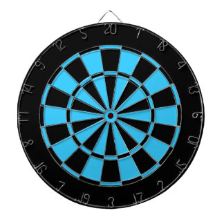 black and turquoise blue dart boards